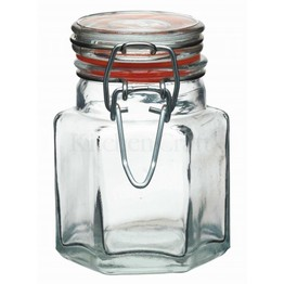 Mini Glass Jars Clip Top Hexagonal 100ml