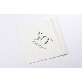 Napkins Rainbow Style- 50th Birthday
