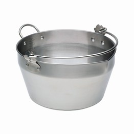 Stainless Steel 9 Litre Maslin Preserving Pan with Handle