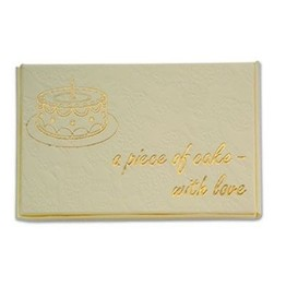 Club Green Piece of Cake Box Ivory/Gold CGL093IVGL