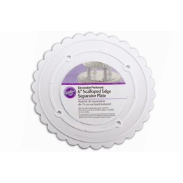 Wilton Decorator Pregerred Scalloped Edge Separator Plate 6inch