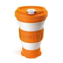Pokito Pop Up Travel Cup Pumpkin