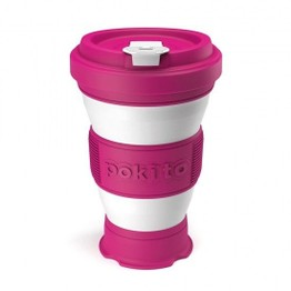 Pokito Pop Up Travel Cup Raspberry