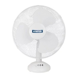 Status 3 Speed Cooling Fan White 12inch
