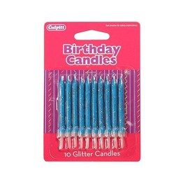 Culpitt Birthday Candles Glitter Blue DP654