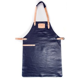 I.O.Shen Leather Apron Navy Blue