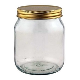 Round Honey Jar with Lid 1lb