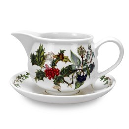 Pimpernel The Holly and The Ivy Gravy Boat and Stand