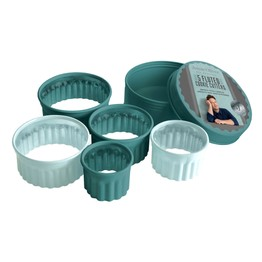 Jamie Oliver Fluted Cookie Cutter Set of 5 in Storage Tin JB3835