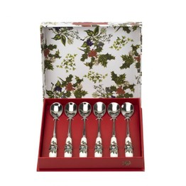 Pimpernel The Holly and The Ivy Tea Spoon Set of 6