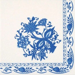 Tiflair Zwiebelmuster Blue and White China Lunch Napkins 3 ply