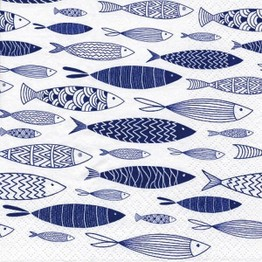Tiflair Shoal of Blue Fish Lunch Napkins 3 ply