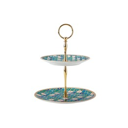 Maxwell & Williams Teas & C's Kasbah Mint Two Tiered Cake Stand