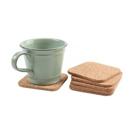 TG Square Cork Coasters Pack of 6 FSC Certified