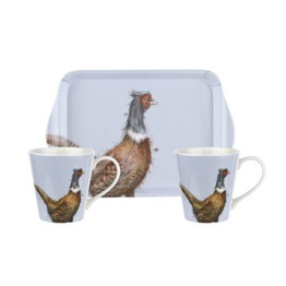 Pimpernel Wrendale Designs Mug and Tray Set - Pheasant