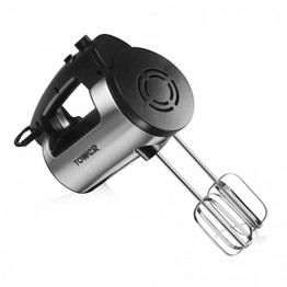 Tower Hand Mixer Stainless Steel 300w T12016