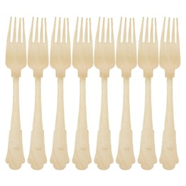 Recycled Disposable Wooden Fork (set of 8)