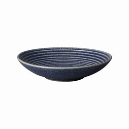 Denby Studio Blue Medium Ridged Bowl Cobalt 410010683