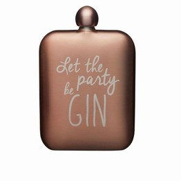 Hip Flask for Gin Pink Stainless Steel