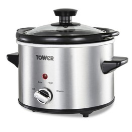 Tower Slow Cooker 1.5ltr Stainless Steel T16020