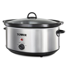 Tower Slow Cooker 6.5ltr Stainless Steel T16040