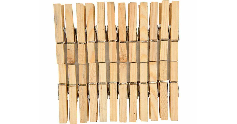 pack de 24 Elliott Hêtre Dolly Peg beige