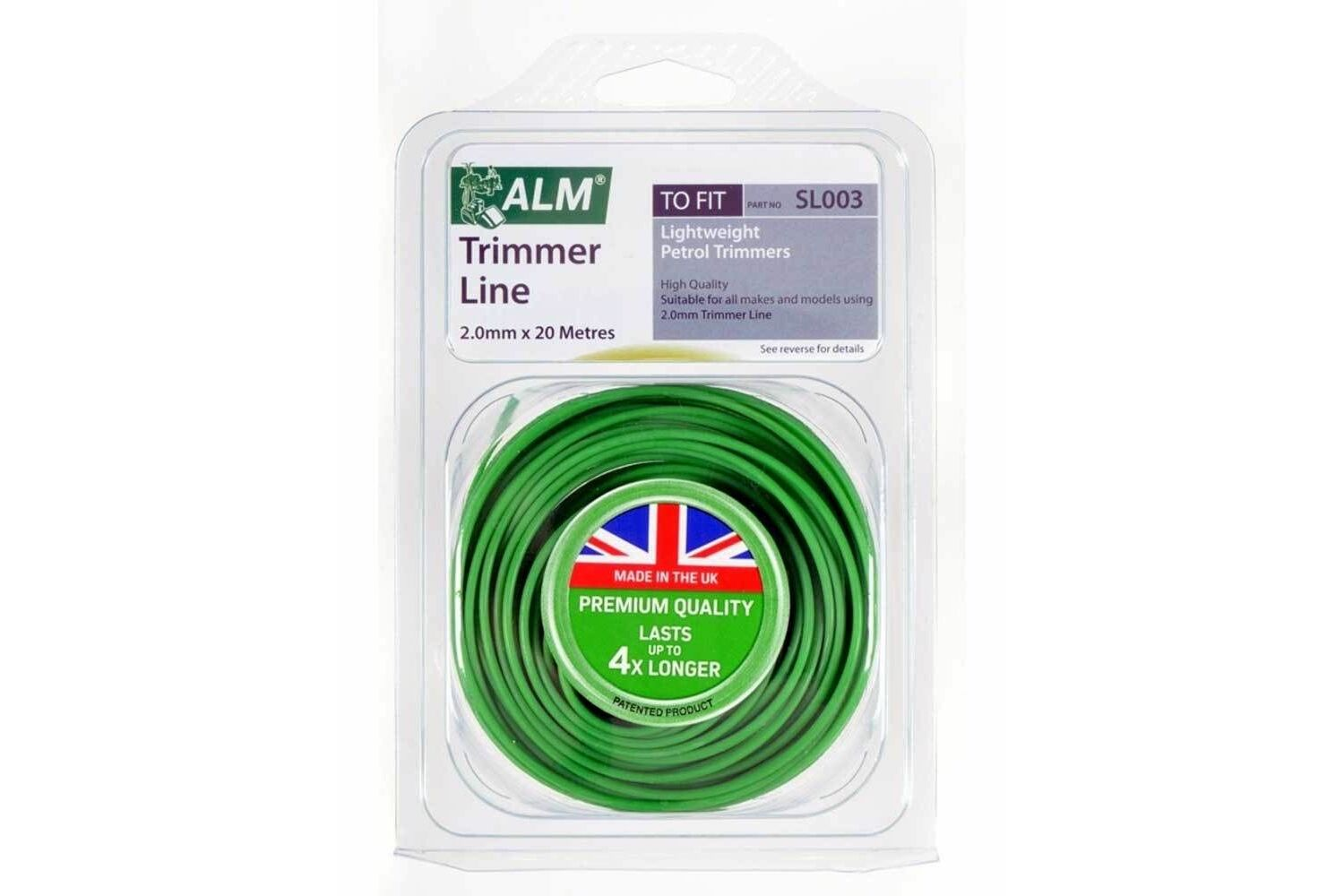 ALM SL001 1.3mm Lightweight Replacement Electric Strimmer Trimmer Line 30m