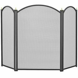 Manor Dynasty 3 Fold Fireguard Black 1796