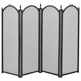 Manor Dynasty 4 Fold Fireguard Black 1771