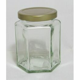 Jam Jar Hexagonal 340ml (12oz)
