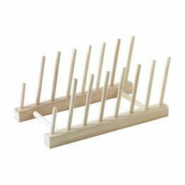 Stow Green Wooden Plate Rack Large