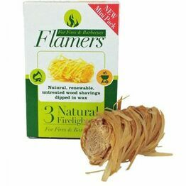 Flamers Natural Firelighters 3pack Trail Size