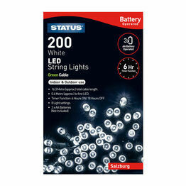 Christmas Lights Battery Operated 200LED