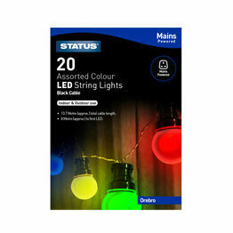 Mains Powered 20LED Assorted Colour String Lights
