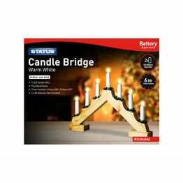 Battery Operated Warm White Candle Bridge