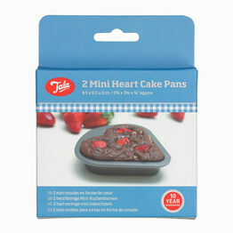 Tala set of 2 Mini Heart Cake Tins 10A11616