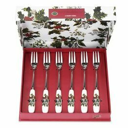 Pimpernel The Holly and The Ivy Pastry Fork Set of 6