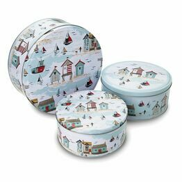 Beside the Seaside Set of 3 Round Cake Tins