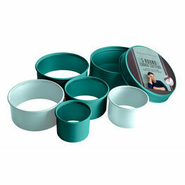 Jamie Oliver Round Cookie Cutter Set of 5 in Storage Tin JB3830