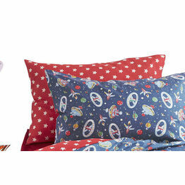 Cath Kidston Space Red Star Pillowcase