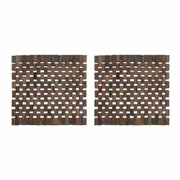 Creative Tops Dark Slatted Wood Tablemats or Coasters