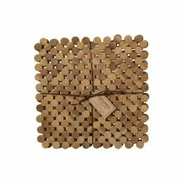 Creative Tops Naturals Circle Wood Tablemats or Coasters