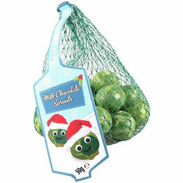 Xmas Milk Chocolate Balls in Sprout design foil 75g