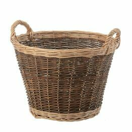Log Basket 2 Tone Large