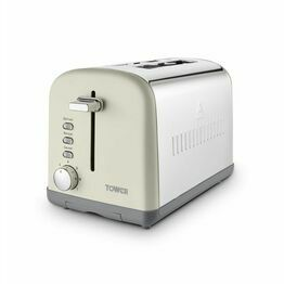 Tower Infinty Stone 2 Slice Stainless Steel Toaster Pebble T20041PEB