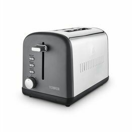 Tower Infinty Stone 2 Slice Stainless Steel Toaster Slatele T20041SLT