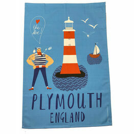 Captain Fairweather Plymouth 100% Premium Cotton Tea Towel