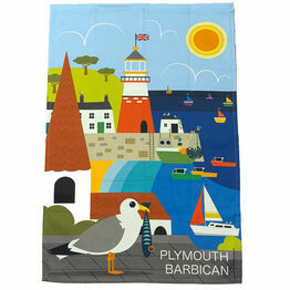 Landing the Catch Plymouth 100% Premium Cotton Tea Towel
