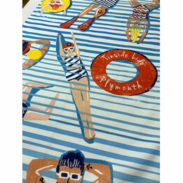 Tinside Lido Plymouth 100% Premium Cotton Tea Towel