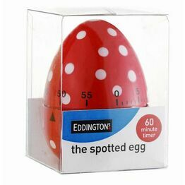 Egg Timer - Spotted Egg Shape Red